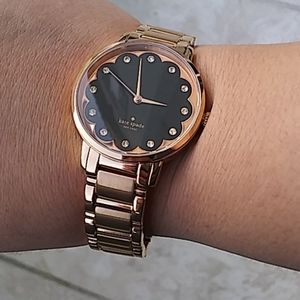 Kate Spade Rose Gold Black Women's Watch